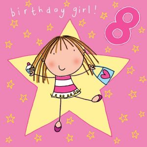 Age 8 Girls Birthday Card